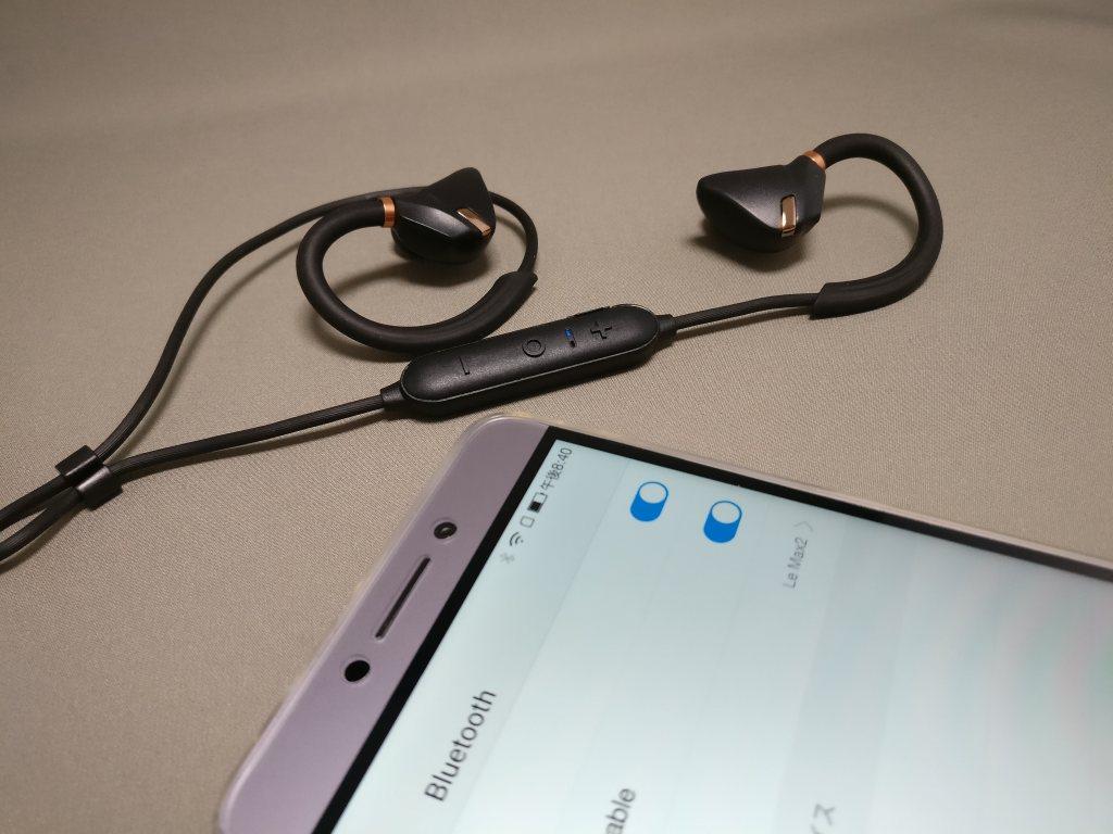 iina-style Bluetooth4.1CVD6.0 IPX7防水 イヤホン IS-BTEP04M ペアリング 青