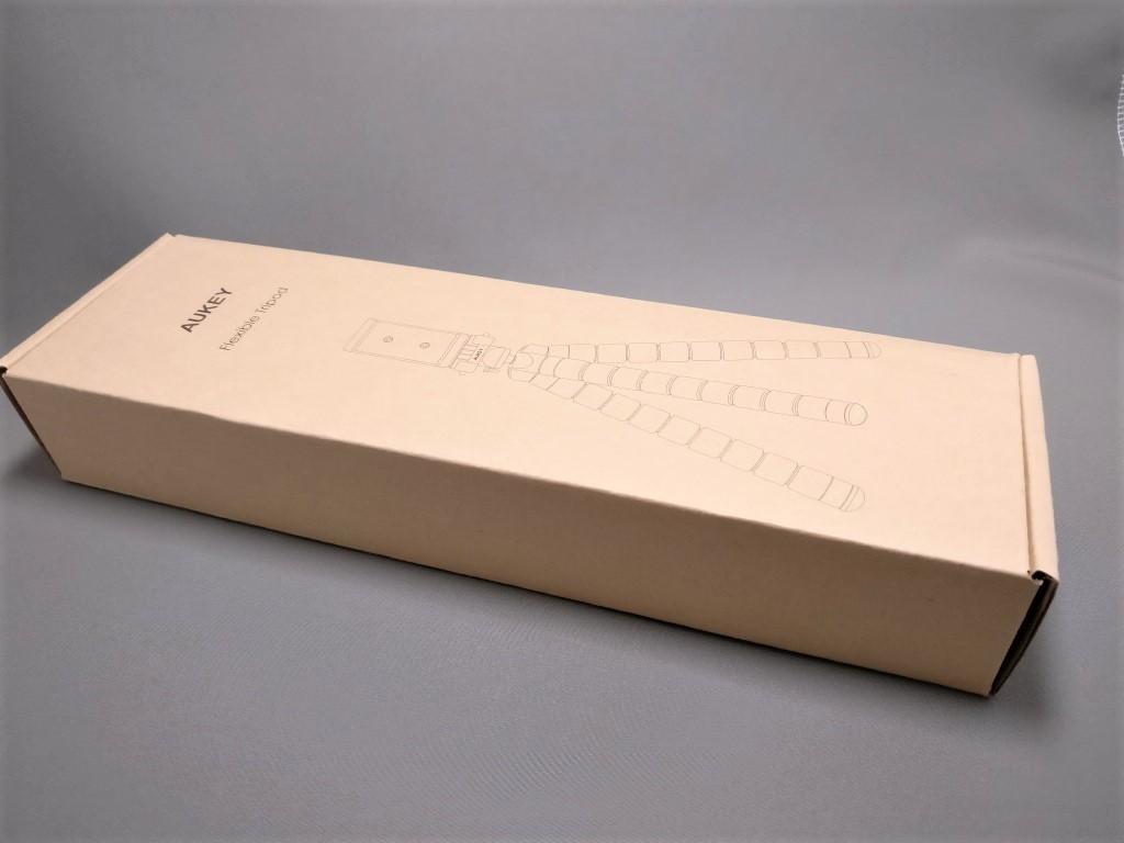 AUKEY スマートフォンホルダー+三脚 CP-T03 化粧箱 ななめ