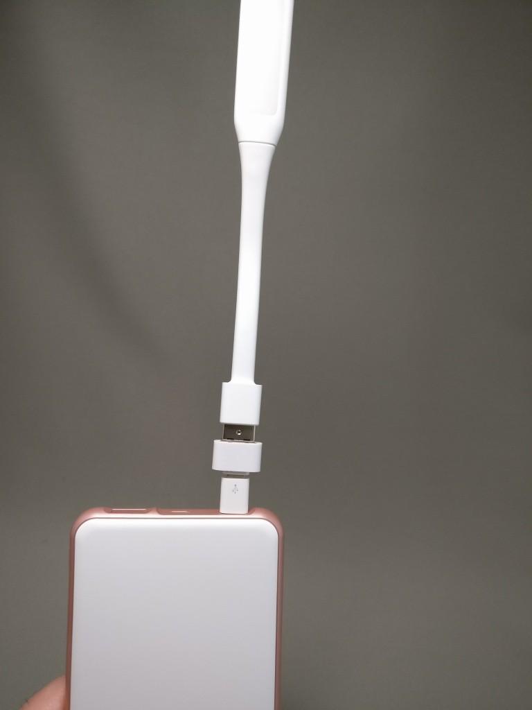 rock space mini USB ファン&ライト ライトニング使えない