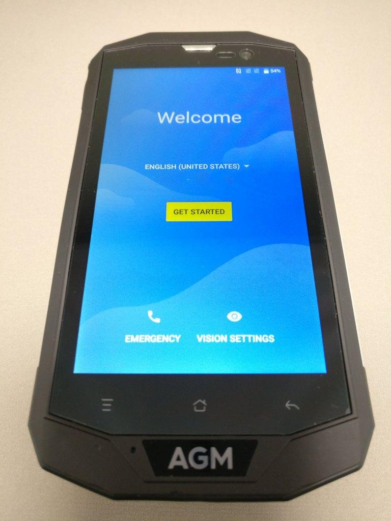 AGM A8 起動 初期設定