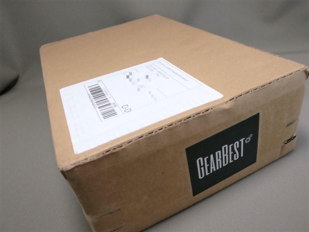 GearBest 梱包 チャック付き段ボール箱 表