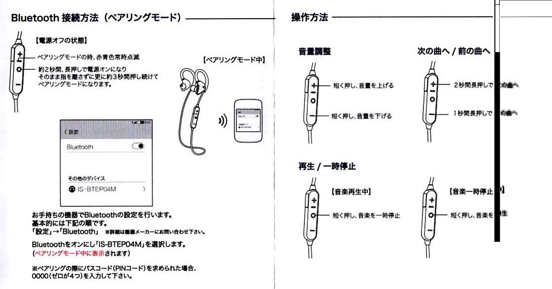 Bluetooth4.1CVD6.0 IPX7防水 イヤホン 2