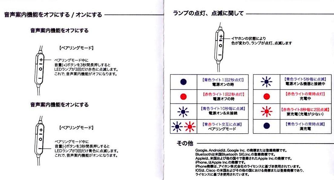 Bluetooth4.1CVD6.0 IPX7防水 イヤホン 6