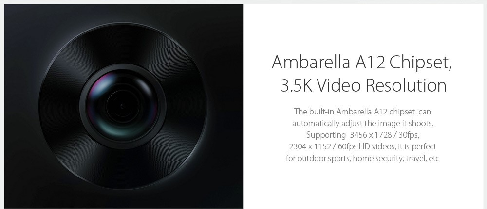 Xiaomi mijiaXiaomi mijia 3.5K Panorama Action Camera 3.5K