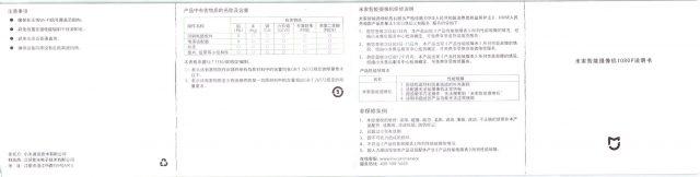 Xiaomi 1080P IPカメラ 取説