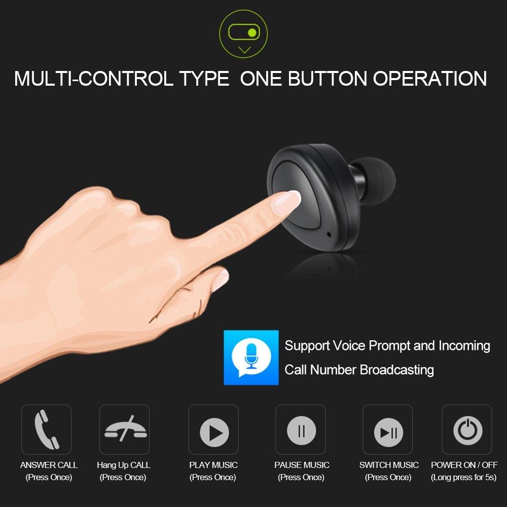 完全分離ワイヤレスイヤホンdocooler K2 TWS  ボタン