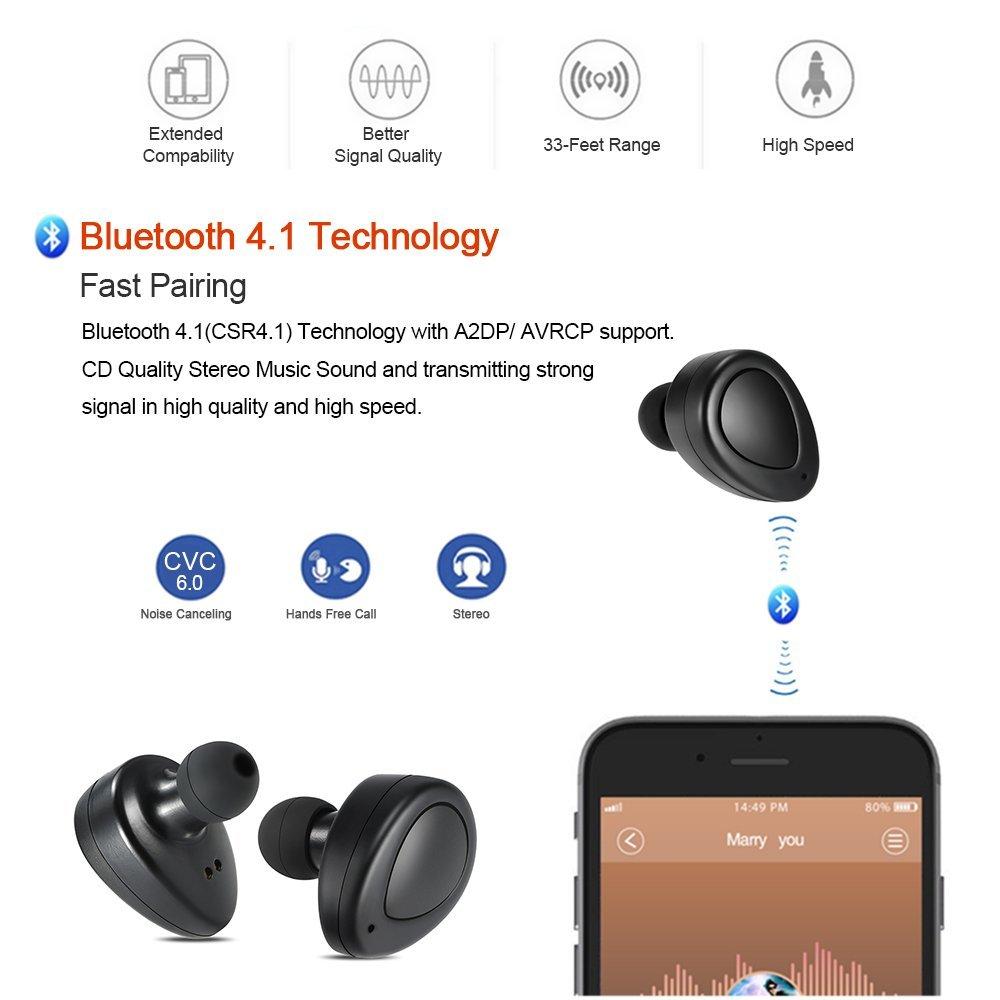 完全分離ワイヤレスイヤホンdocooler K2 TWS  Bluetooth