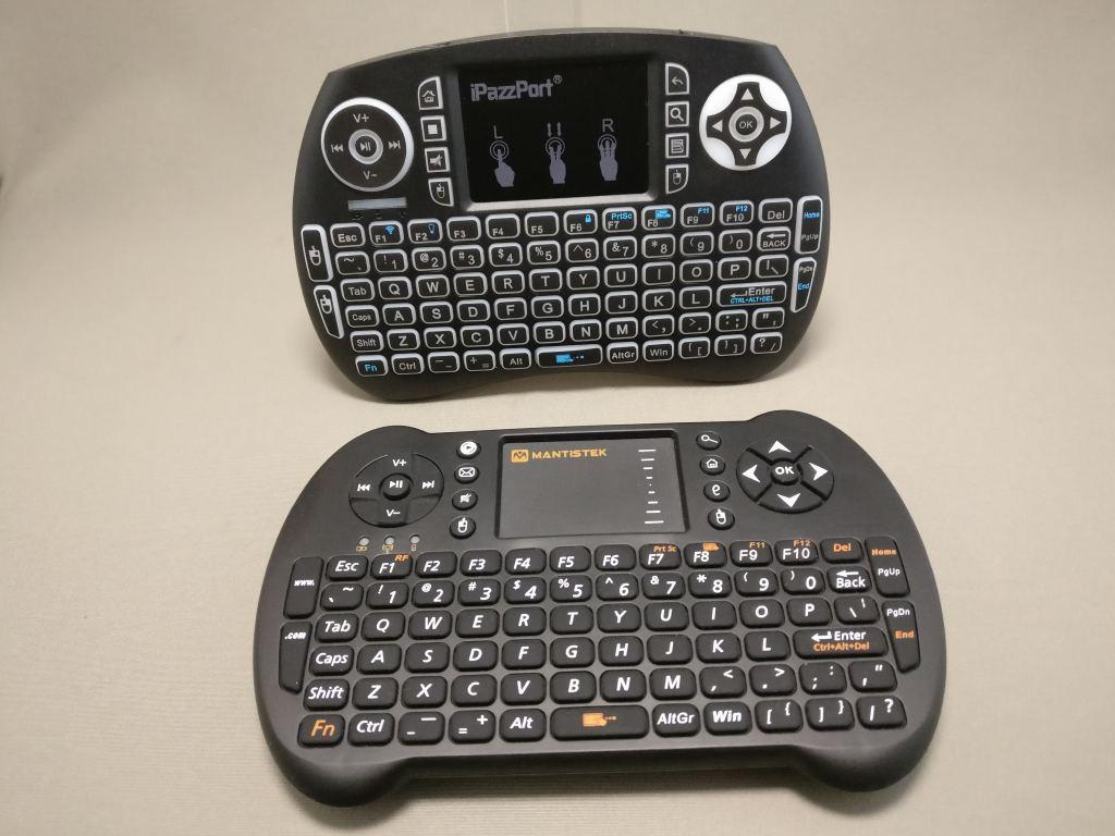 iPazzPort Mini Keyboard と MantisTek MK1 比較 見た目