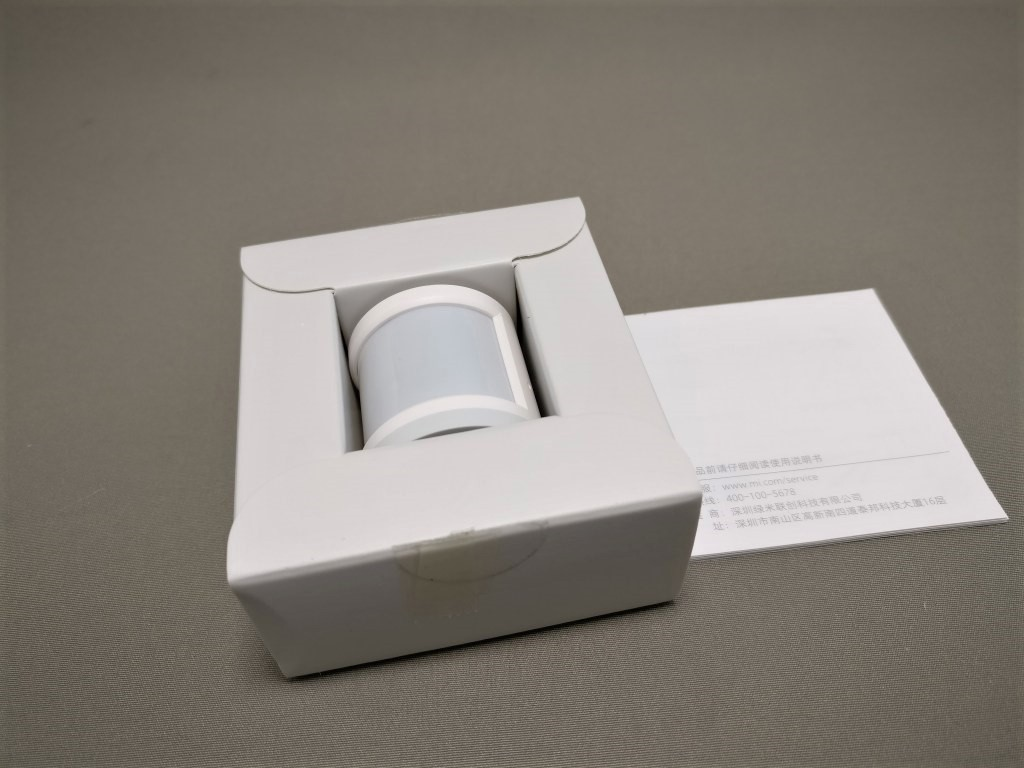 Xiaomi mijia スマートホームセキュリティキット 人感センサー 化粧箱