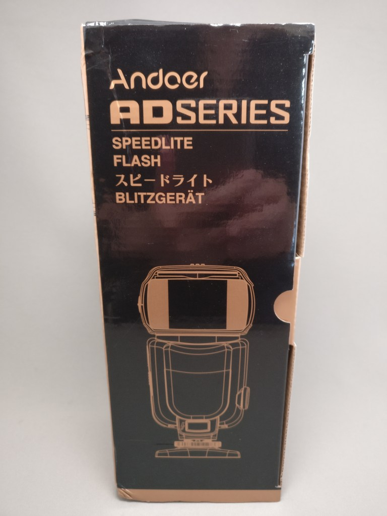Andoer AD-560Ⅱ 汎用 スピードライト 化粧箱 表