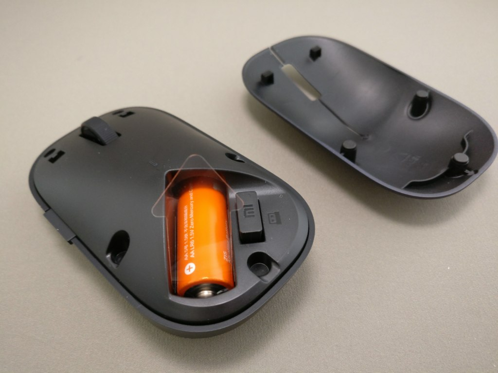 XIAOMI 1200DPI 2.4GHz 4 Buttons Wireless Optical Mouse For PC Laptop フタ開く