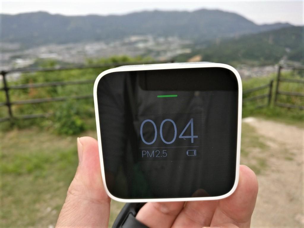 Xiaomi PM2.5 AQI測定器 裏山 4AQI