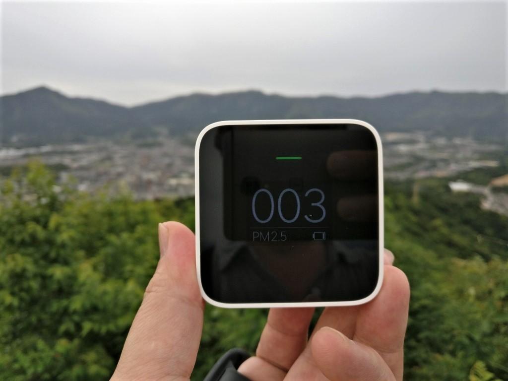 Xiaomi PM2.5 AQI測定器 裏山 3AQI