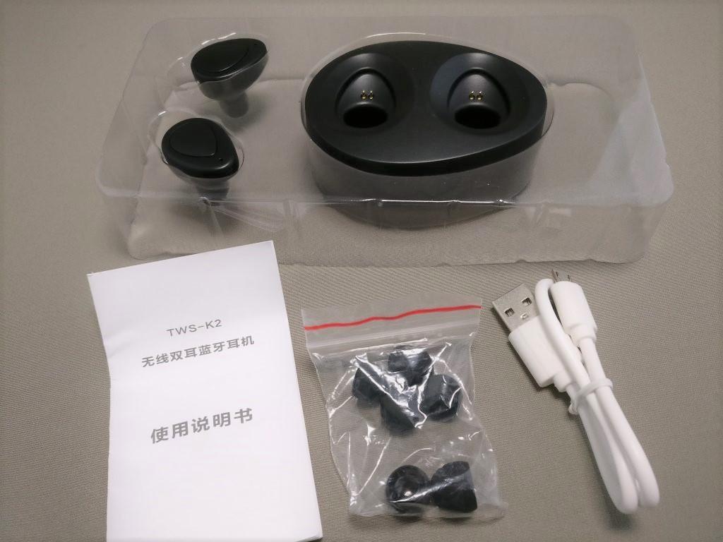 完全分離ワイヤレスイヤホンdocooler K2 TWS 化粧箱 開封