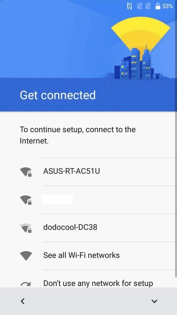 初期設定 Wifi