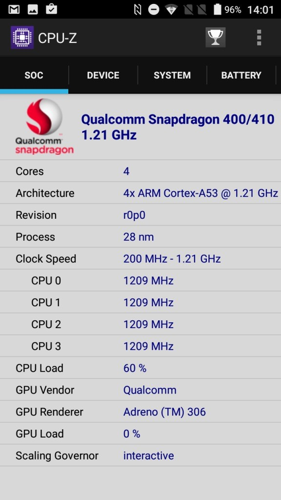 AGM A8 CPU-Z Soc