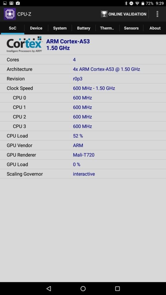 Cube iplay 10 CPU-Z 2