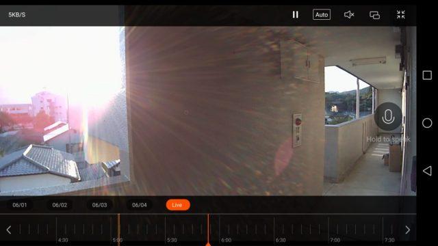 Xiaomi 1080P IPカメラ MicroSD刺す