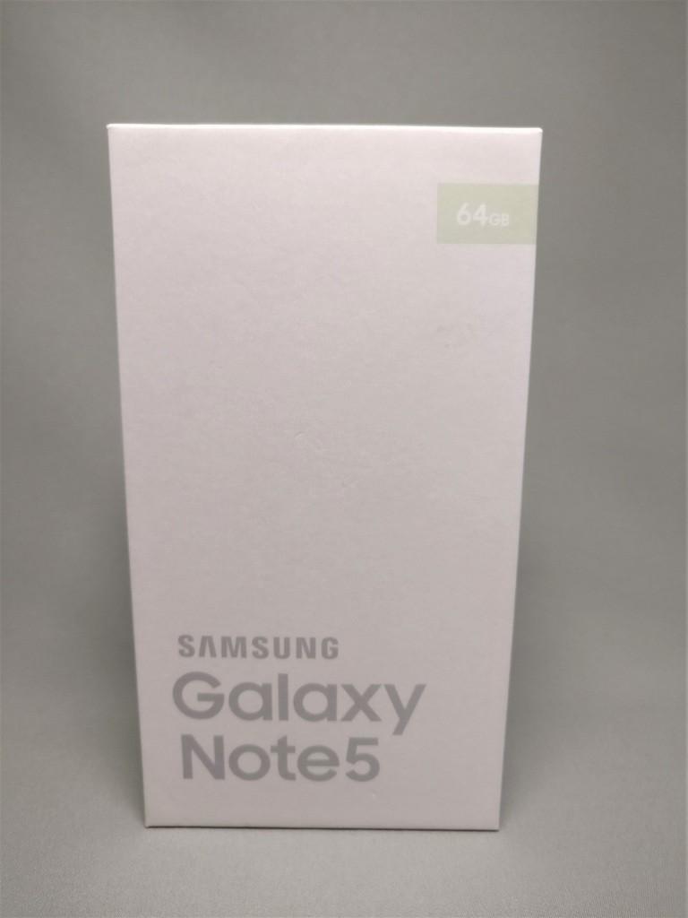 Galaxy Note 5 化粧箱 表