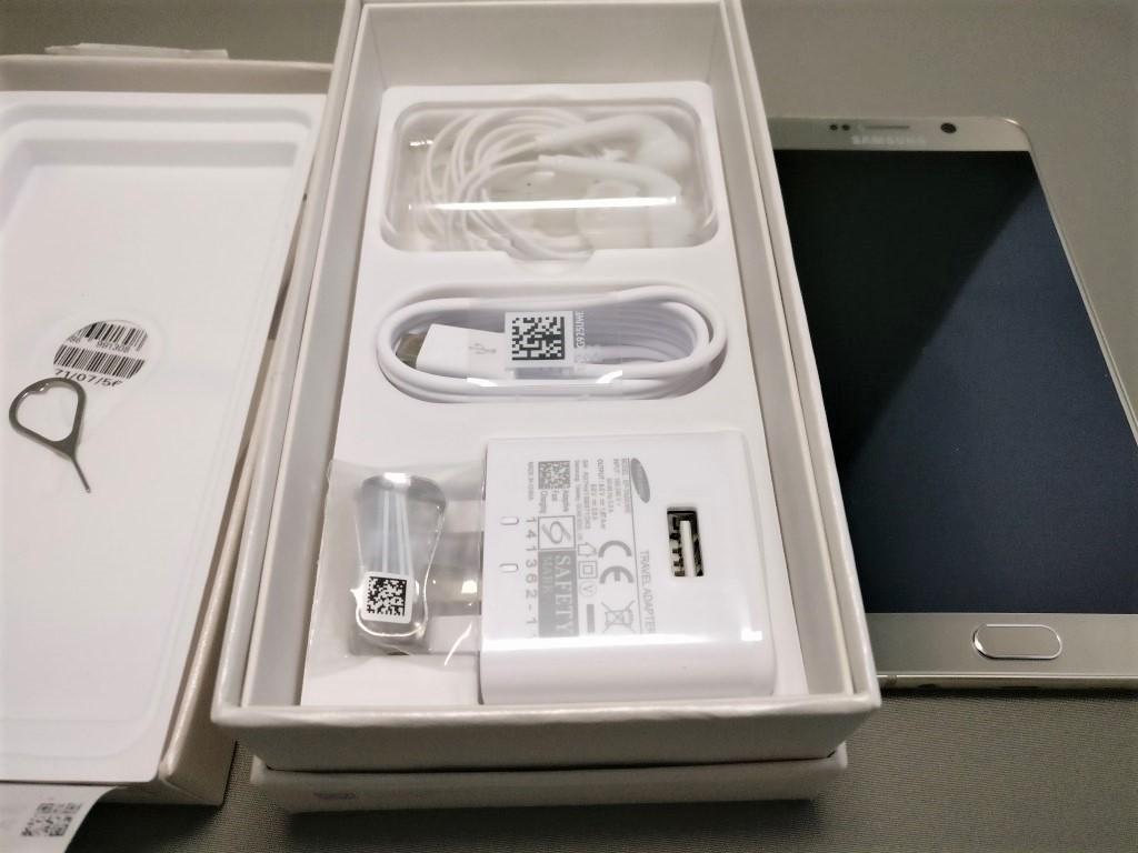 Galaxy Note 5 化粧箱 付属品