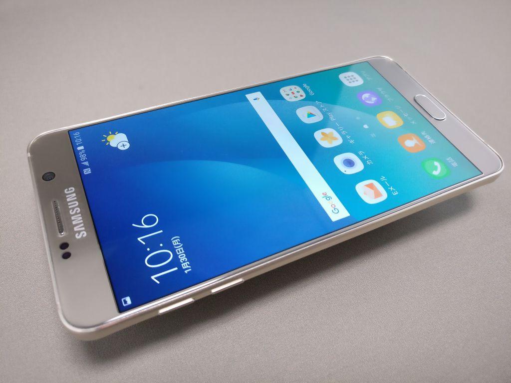 Galaxy Note 5 表面 斜め下