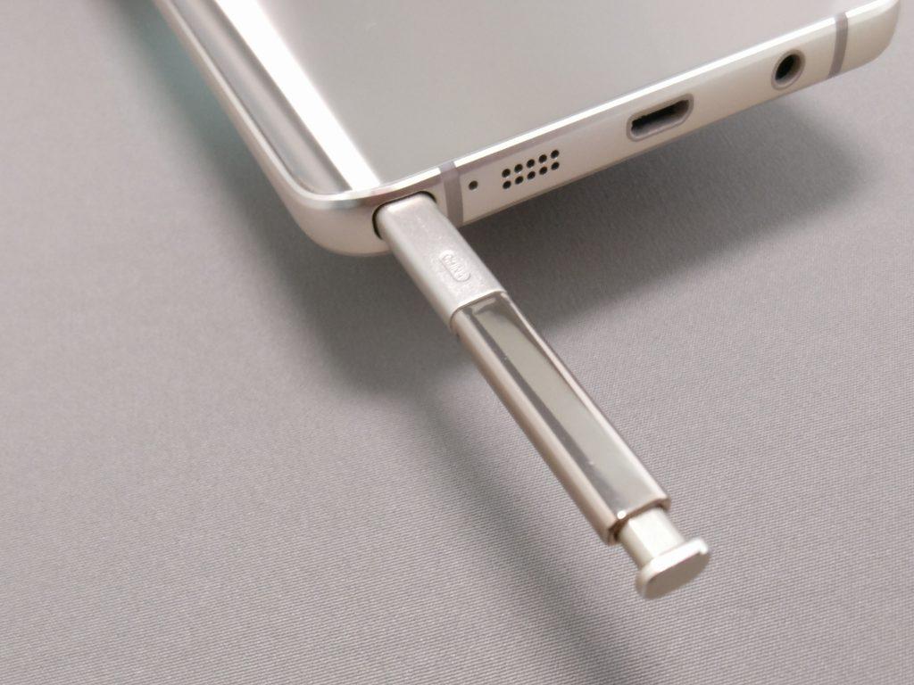Galaxy Note 5 ペン 引き出す