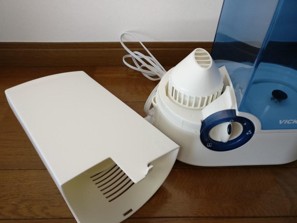 AUKEY 加湿器 超音波クールミスト加湿器 VICKS比較 フタ取る
