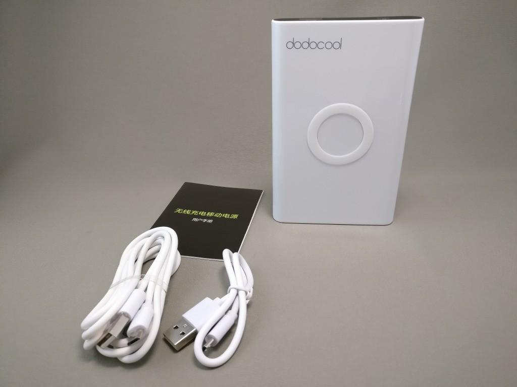 dodocool Qi モバイルバッテリー 開封 付属品