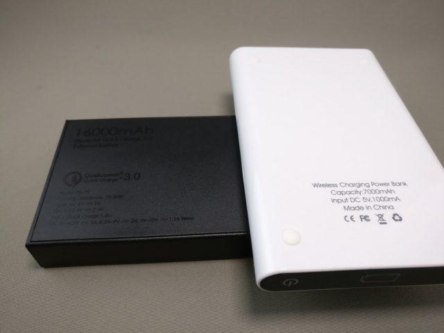 dodocool Qi 他のモバイルバッテリーと比較3
