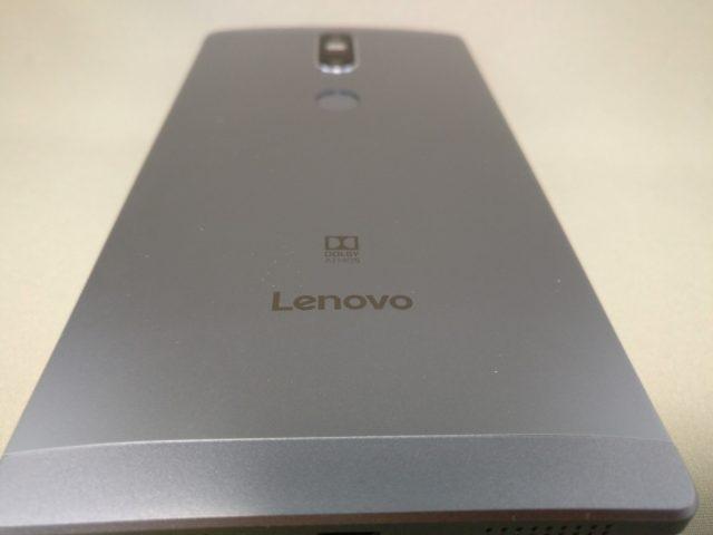 LENOVO Phab 2 Plus ズーム 裏面 LENOVOとドルビーの刻印
