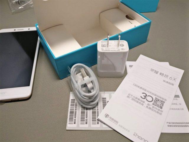 Huawei Honor 6X 付属品 USBアダプタ・ケーブル