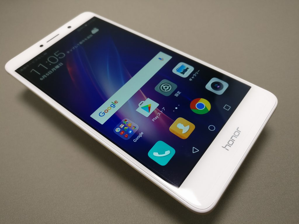 Huawei Honor 6X 表面 斜め