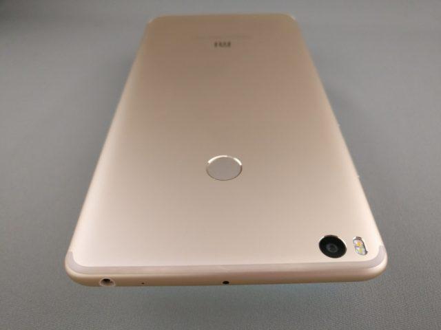 Xiaomi Mi Max 2 裏面 斜め上