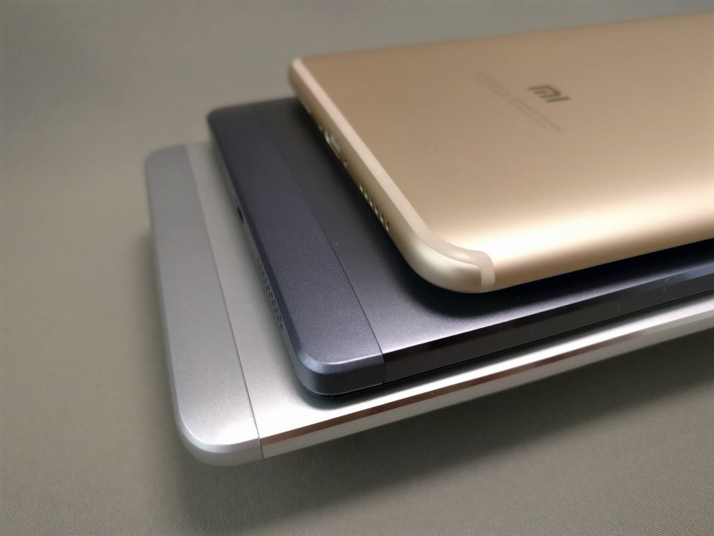 Xiaomi Mi Max 2  他スマホ比較 裏面下