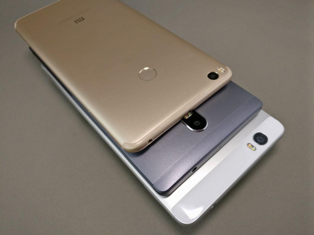 Xiaomi Mi Max 2  他スマホ比較 裏面上