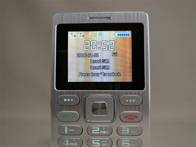 SATREND A10 GSM ミニカードフォン ロック