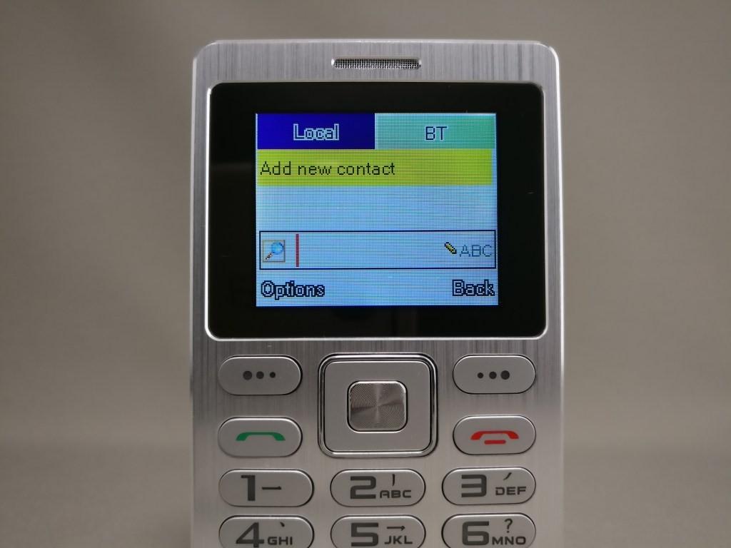 SATREND A10 GSM ミニカードフォン Bluetooth接続 BT