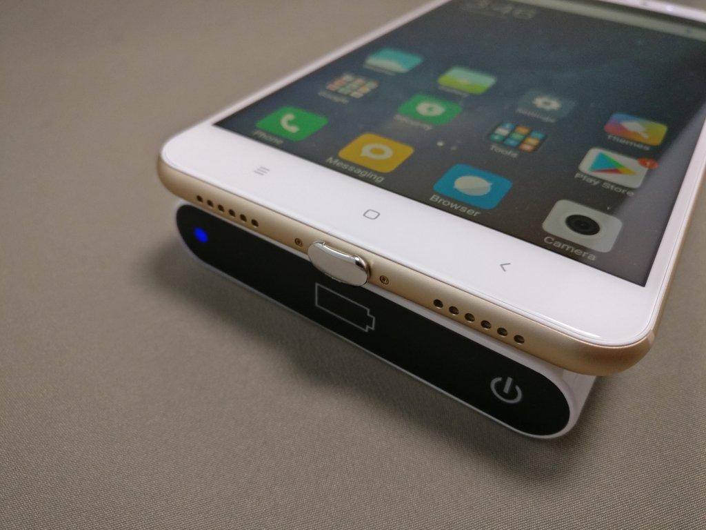 ワイヤレス充電レシーバーシート Mi Max 2 で充電