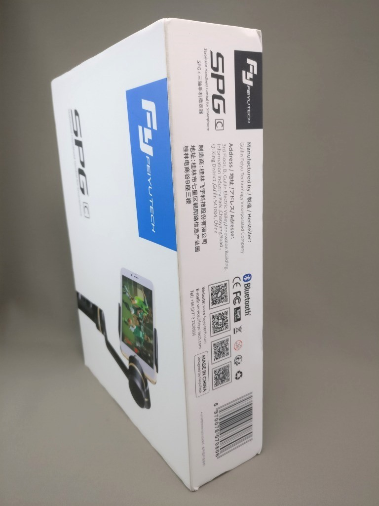 FeiyuTech SPG c 3軸 ハンドヘルド ジンバル スタビライザー 化粧箱2ななめ