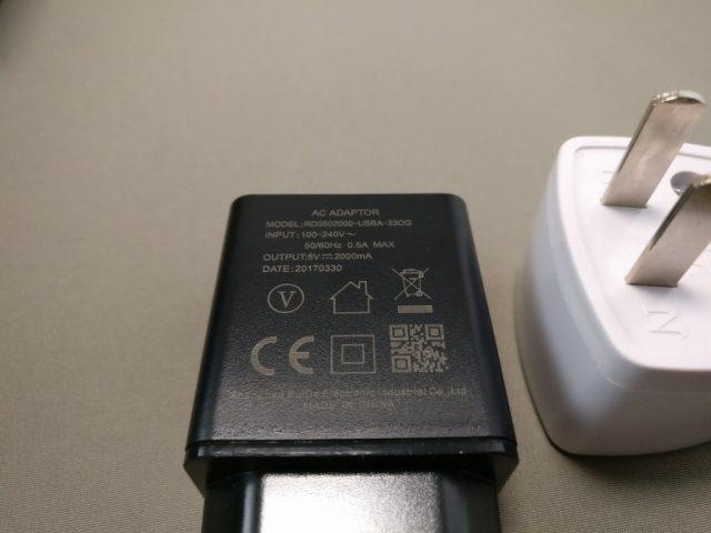 DOOGEE MIX Banggood 化粧箱 付属品 USBアダプタ2