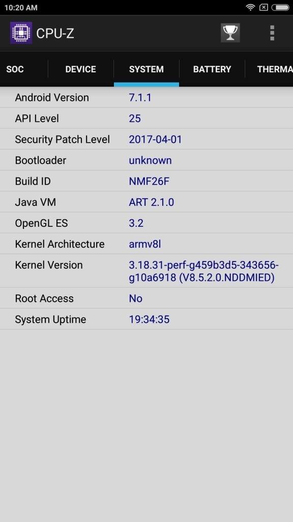 Xiaomi Mi Max 2 System