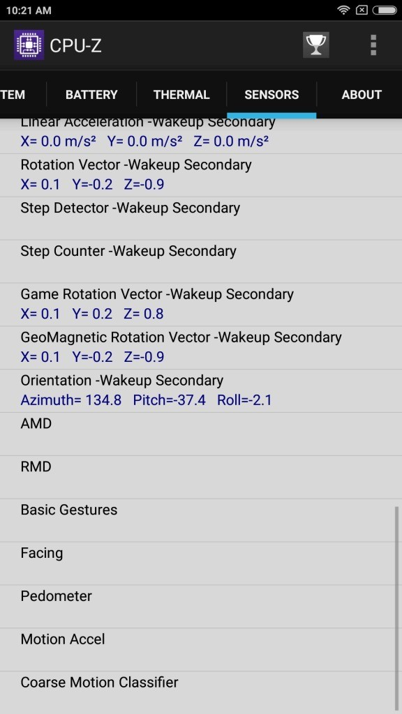 Xiaomi Mi Max 2 Sensors3