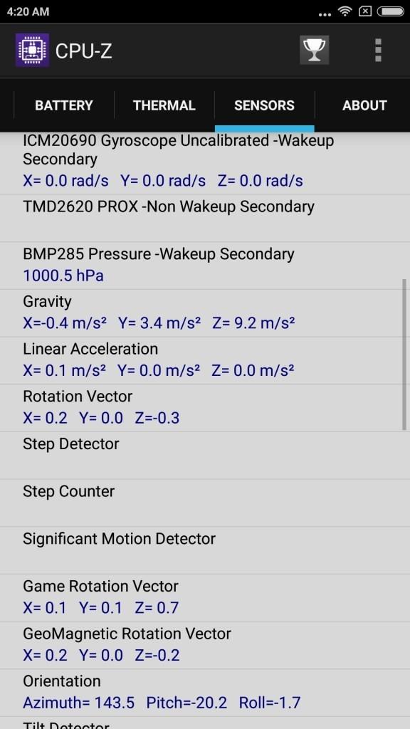 xiaomi Mi6 CPU-Z sensor2