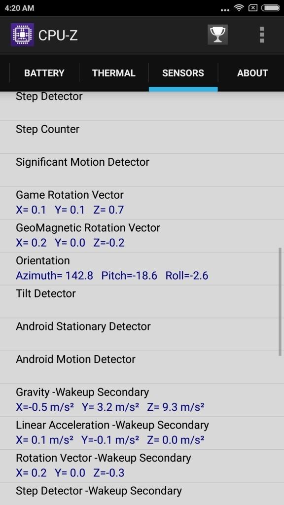 xiaomi Mi6 CPU-Z sensor3