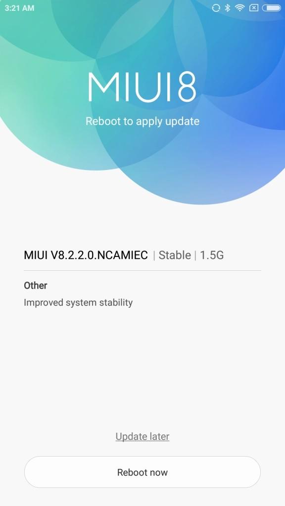 xiaomi Mi6 設定 端末情報 アップデートする