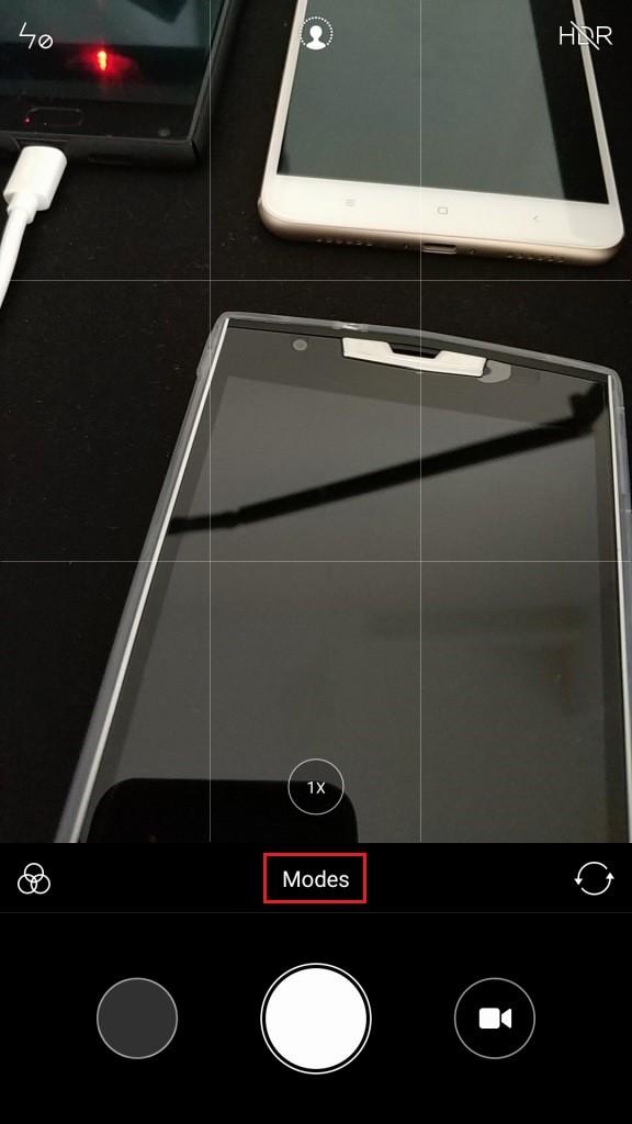 Mi6 カメラアプリ起動してModesタップ
