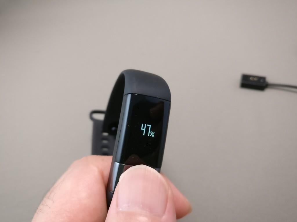 Xiaomi AMAZFIT ハートレート スマートバンド 電池残量