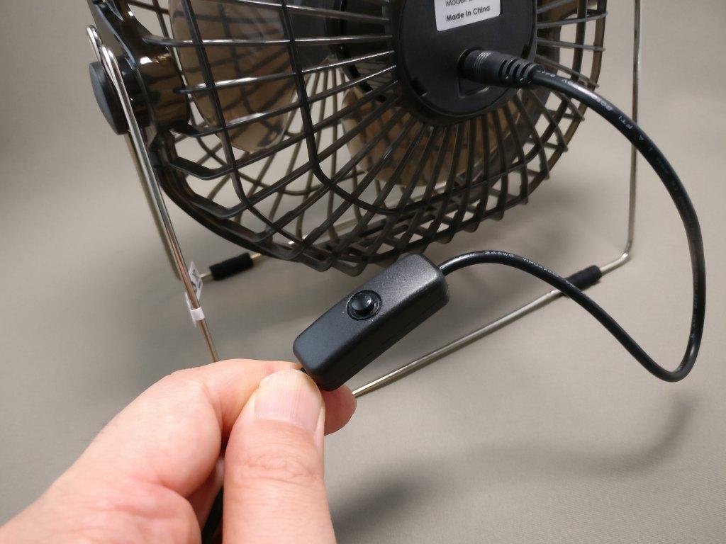 Aukey USB扇風機 スイッチ