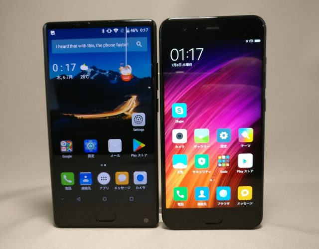 DOOGEE MIX・Xiaomi Mi6 表