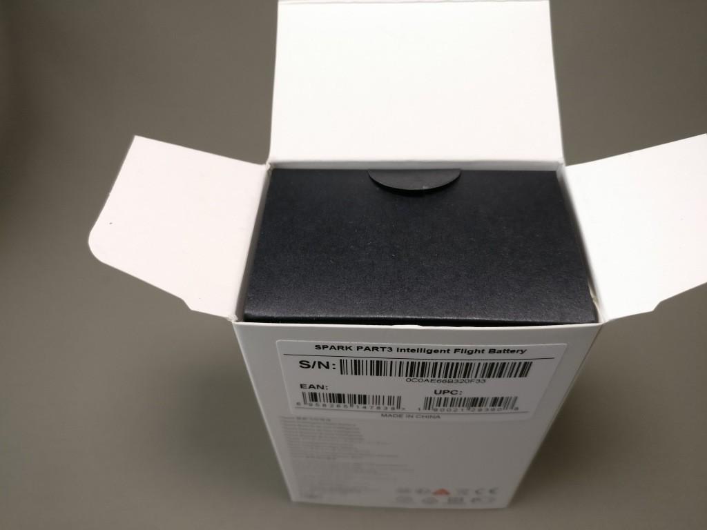 DJI Spark 予備バッテリー 化粧箱
